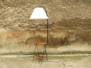 lampe-porte-revue-tablette-années-50-abat-jour-vintage