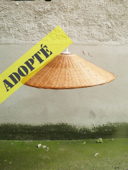 lustre-suspension-osier-chapeau-chinois-cône-adopté