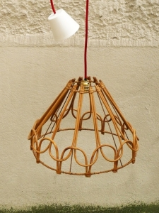 suspension-lustre-rotin-vintage-luminaire-50-60-années 70