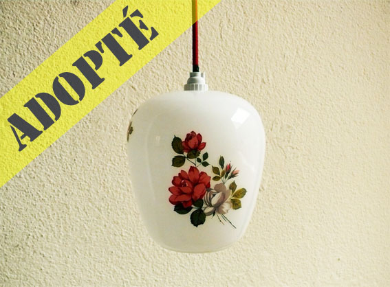 Suspension opaline r tro adopte un meuble for Suspension cuisine retro