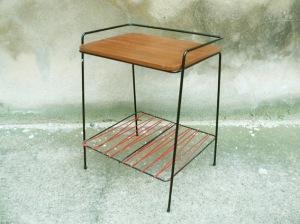 porte-revues-vintage-années-50-6050's-tablette-bout-de-canapé-table