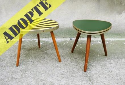 petites tables porte plantes vintage
