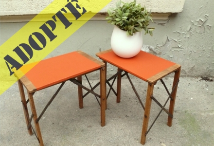 tabourets-porte-pots-plantes-ancien-tablette-orange-adopté