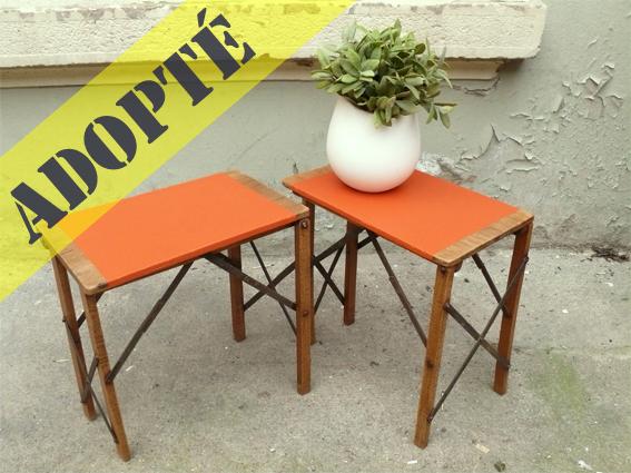 tabourets-porte-pots-plantes-ancien-tablette-orange-adopté