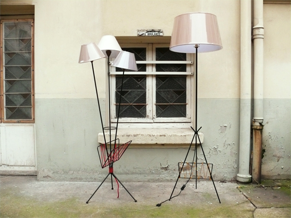 lampadaire tripode vintage adopte un meuble. Black Bedroom Furniture Sets. Home Design Ideas