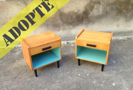 table-de-chevets-années-60-turquoise-bleu-bois-clair-2-adopte