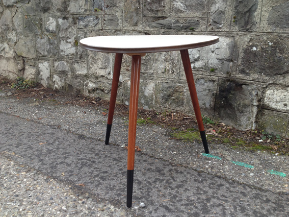 table tripode grise annes 50 vintage pieds dmontable