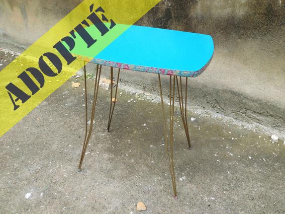 adèle-table-vintage-bleu-turquoise-rénovée