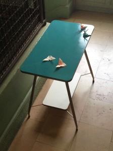 table-vintage-desserte-deux-plateaux-années-50-mobilier