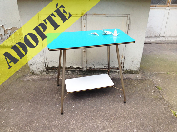 Table d appoint desserte 50 adopte un meuble - Table cuisine formica annee 50 ...