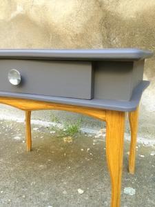 chevet-scandinave-vintage-bois-gris-rénové-tiroir-50-60
