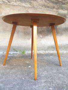 table-scandinave-vintage-bois-vert-années-50