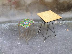 échelle-table-vintage-ancien-rénové-recycler