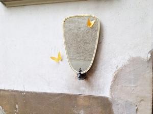 miroir-forme-libre-rétroviseur-ivoire-beige-vintage